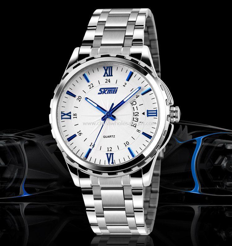 Men waterproof quartz watch
