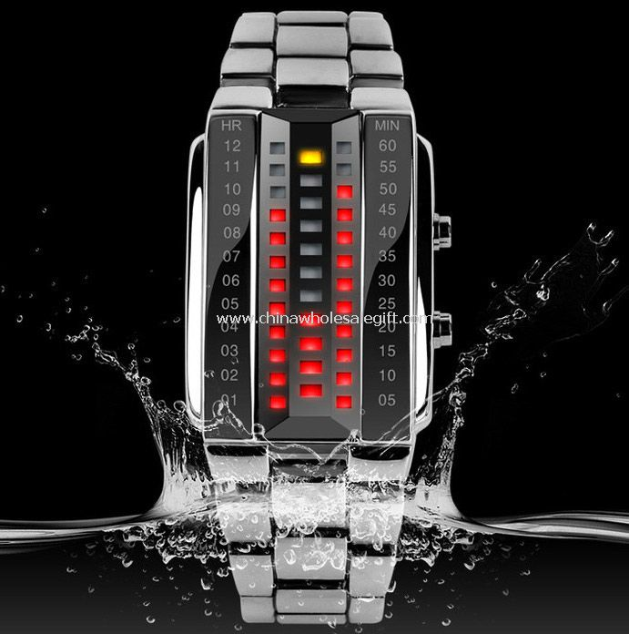 Waterproof led watch