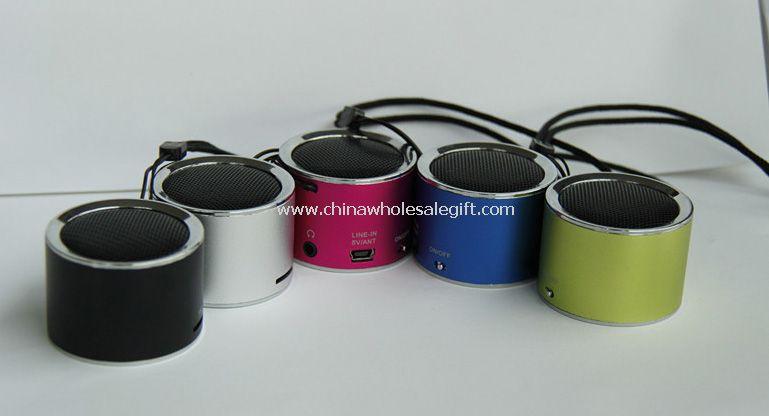 Mini Card Reader speaker with lanyard