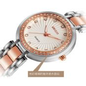 Lady watch with diamond images