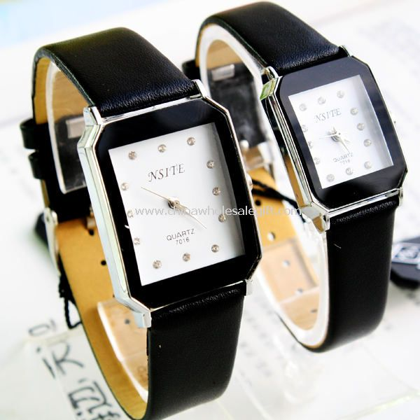 Leather band lover watches