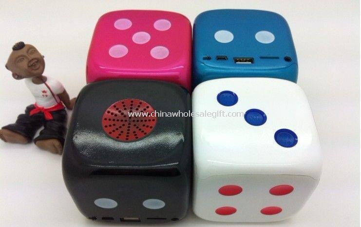 Dice Shape Digital Music Box Player Speaker