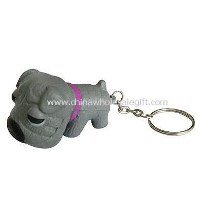 Keychain dog shape stress ball