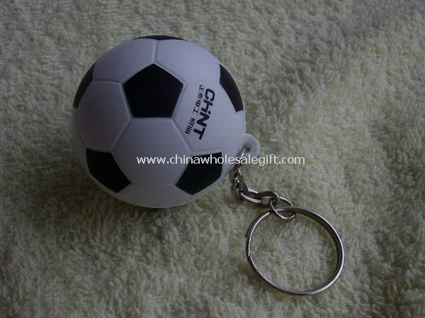 Keychain football stress ball