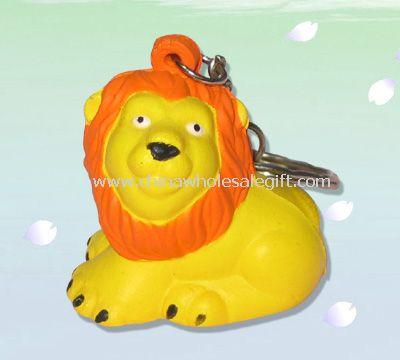 Keychain lion stress ball