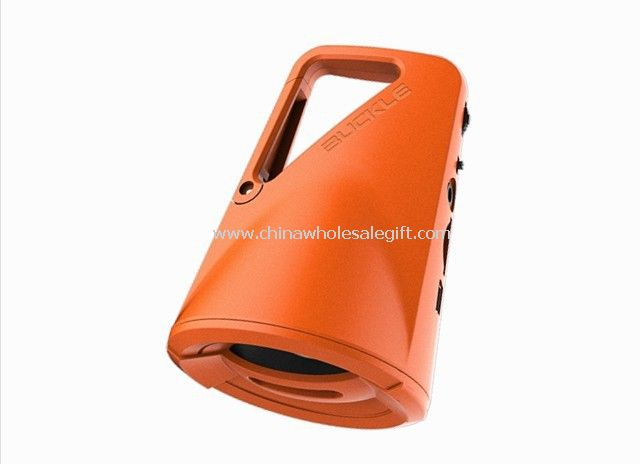 Sports outdoor speaker with climbing button carabiner