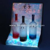Cool Acrylic Wine Display Stand with LEDs images