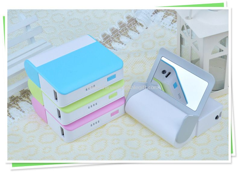 5000mah magic mirror power bank smart universal power bank