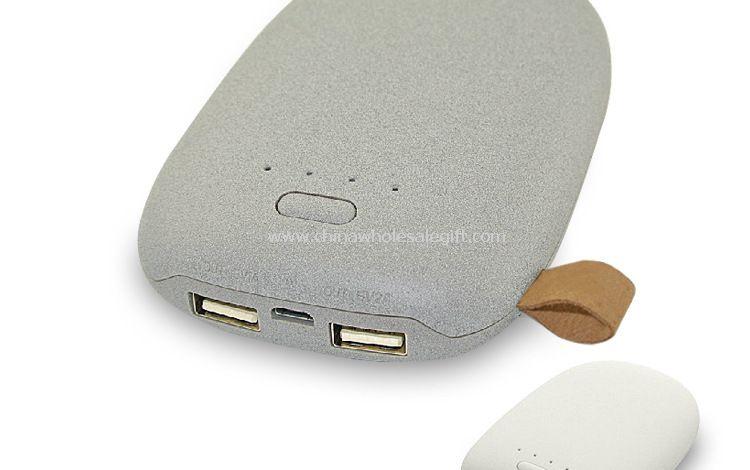 Dual USB portable charger high density full capacity external battery backup power bank