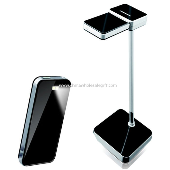 Large capacity battery inside portable led desk lamp can charge for mobile phones