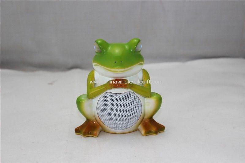 Frog style mini speaker with LED light Support FM