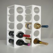 5-bottles MDF Modern Wine Rack images
