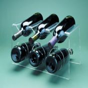 6-bottle Acrylic Modern Wine Rack and Holder images