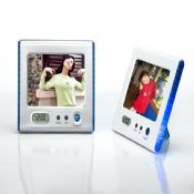 Colorful photo frame with clock images