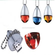 Crystal USB Flash Drive with Keychain images
