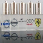 Crystal USB flash drive With engraving logo design images