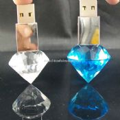 LED Light Crystal USB Flash Drive images