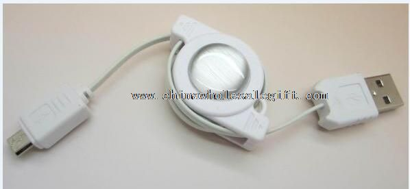 2.0 retractable micro 5pin usb data cord