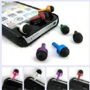 Touch pen with a dust plug for earphone images