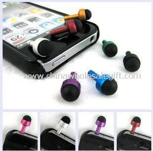 Touch pen with a dust plug for earphone