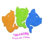Fish shaped silicone hot pot mat images