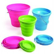Silicone collapsible bucket images
