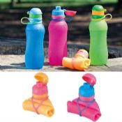 Sport silicone water bottle images