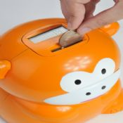 Monkey shape Electric Piggy bank images