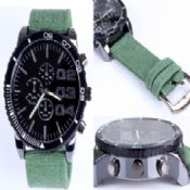 Canvas Leather Watch images