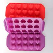 Heart silicone ice mould images