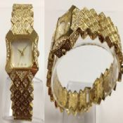 Glitter gold watch images