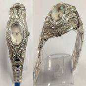 Silver diamond watch images