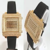 LED gold crystal watch images