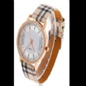 Plaid Leather Watch images