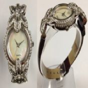 Silver Flower Watch images