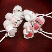 Heart-shaped diamond earbud images