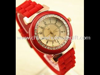 Lady Crystal Silicon Watch