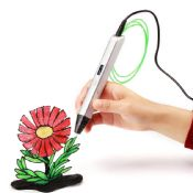 3D Stereoscopic Printing Pen for 3D Drawing with ABS Filament Material and Power Adapter images