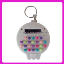 Colorful keyboard keychain electronic fancy skull calculator images