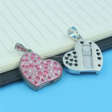 Crystal Heart Usb Stick Pen Drive Usb Flash Memory images