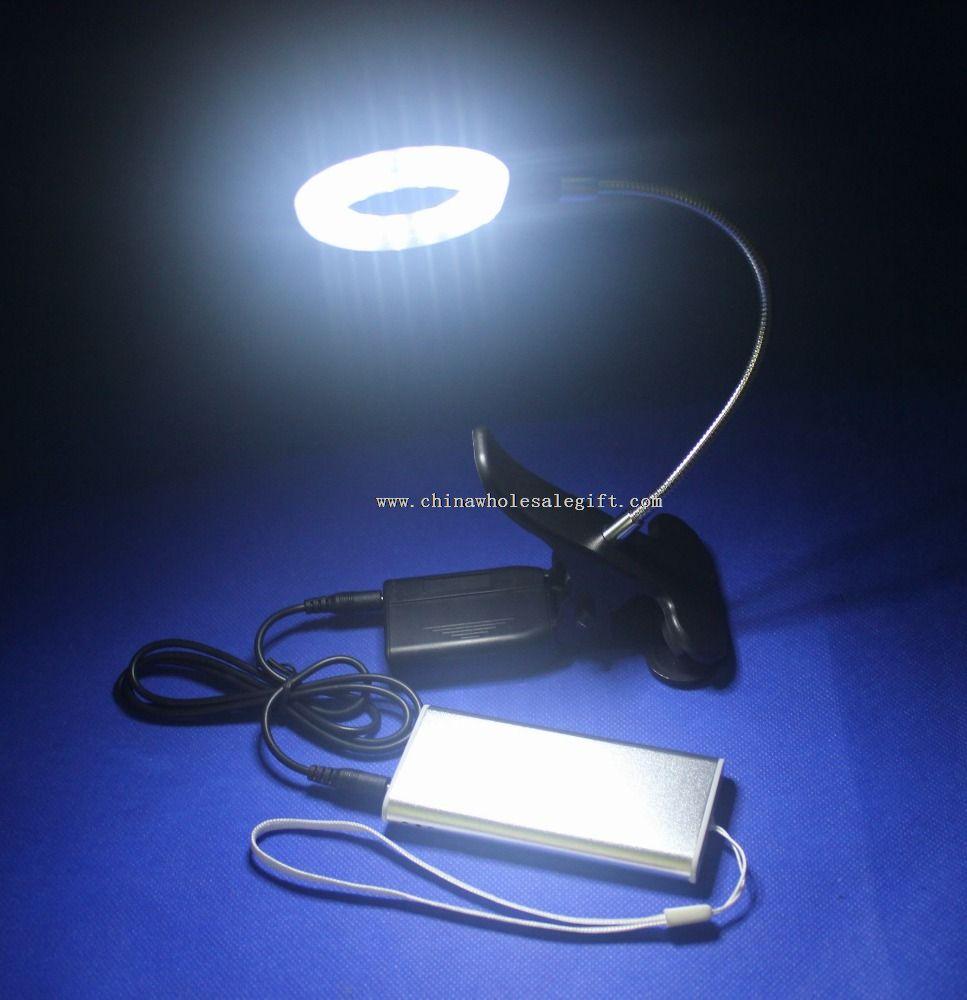 High lumens solar light battery powered LED clip light with magnifier light