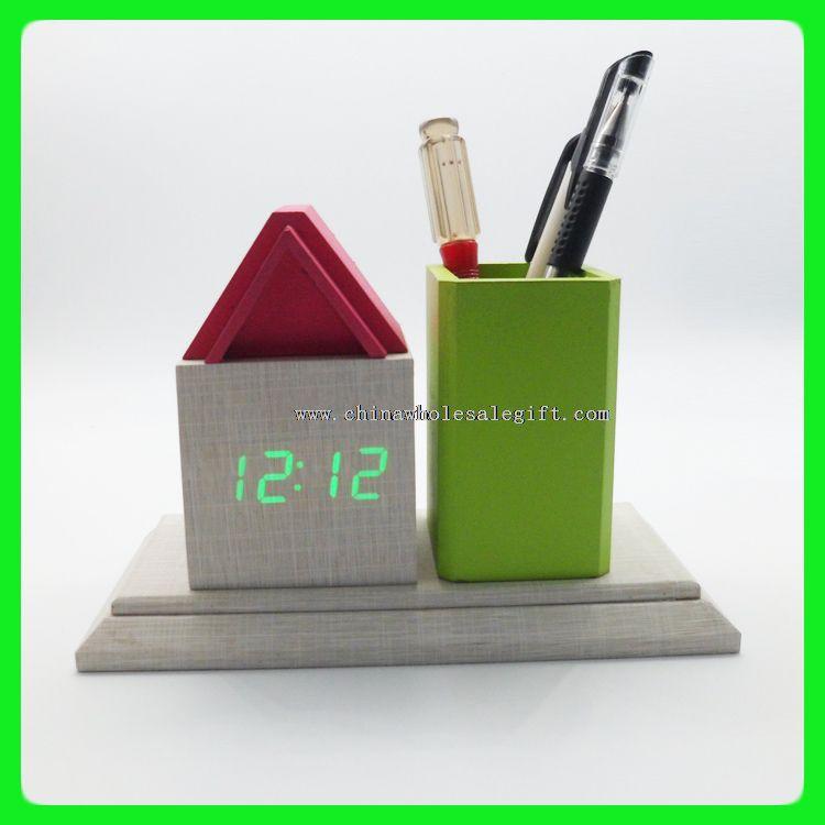 LED digital penholder alarm clock