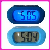 Large LCD backlight silicone alarm clock images
