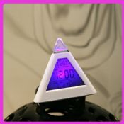 7 LED Color Change Pyramid Digital Clock images