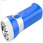 ABS plastic mini led flashlight 4 LED Torch Rechargeable Light with battery images
