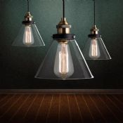 American country Vintage industrial pendant lamp images