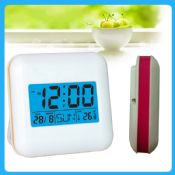 Blue LED backlight mini forecast weather station table clock images