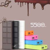 Chocolate portable mobile power bank images
