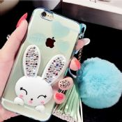 Colorful cute rabbit stand case for 5/6/6 plus images