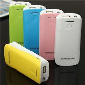 Colorful mini 5200mah powerbank with single usb charger images